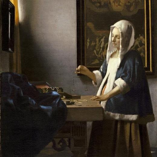 Woman Holding A Balance Print