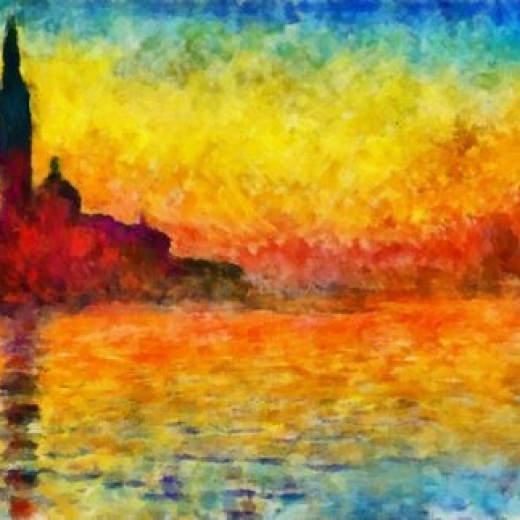 Claude Monet Sunset In Venice Prints