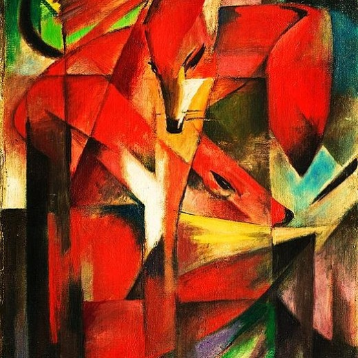 Franz Marc The Foxes
