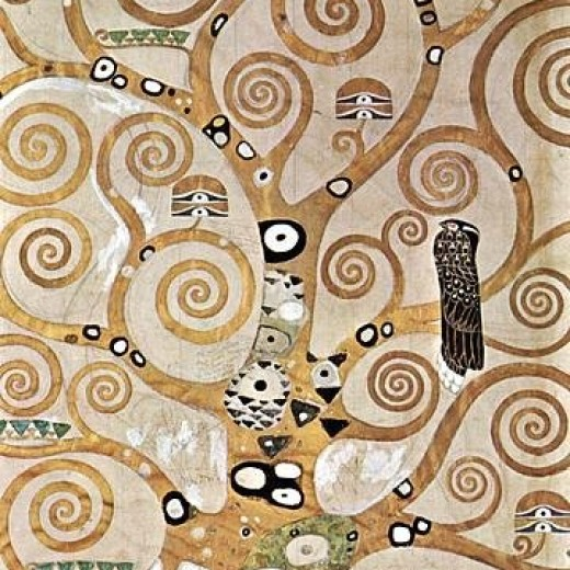 Gustav Klimt Tree Of Life Detail