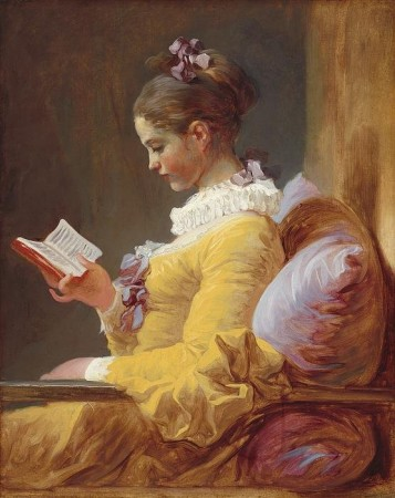 Young Girl Reading Print