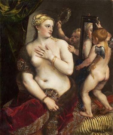 Venus With A Mirror Print
