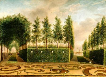 A Formal Garden Print