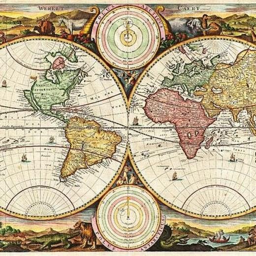 Vintage World Map Print
