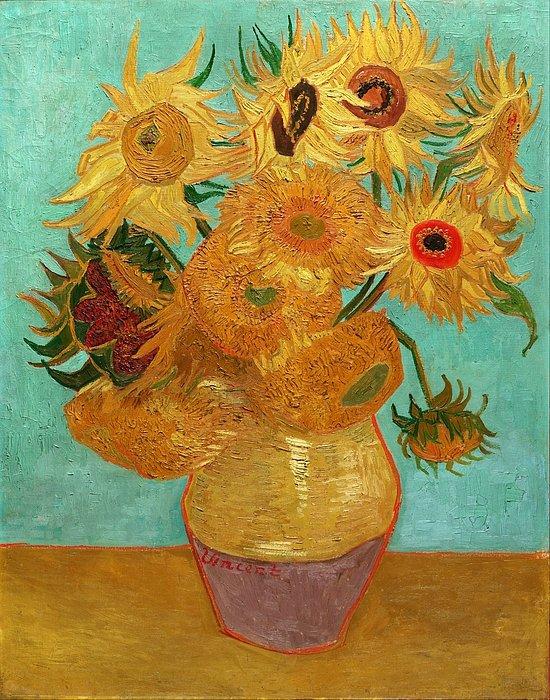 3 Vase With Twelve Sunflowers Vincent Van Gogh