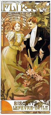 Alphonse Mucha Flirt